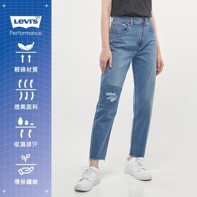 Levis 女款 高腰修身窄管牛仔長褲 Cool Jeans涼感丹寧 回收再造纖維 彈性布料