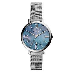 FOSSIL 愛琴海閃耀錶框米蘭錶(ES4322)-36mm