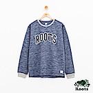 男裝Roots 橄欖球條紋圓領上衣-藍
