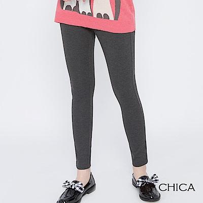 CHICA 女子運動會條紋織帶彈力內搭褲(2色)