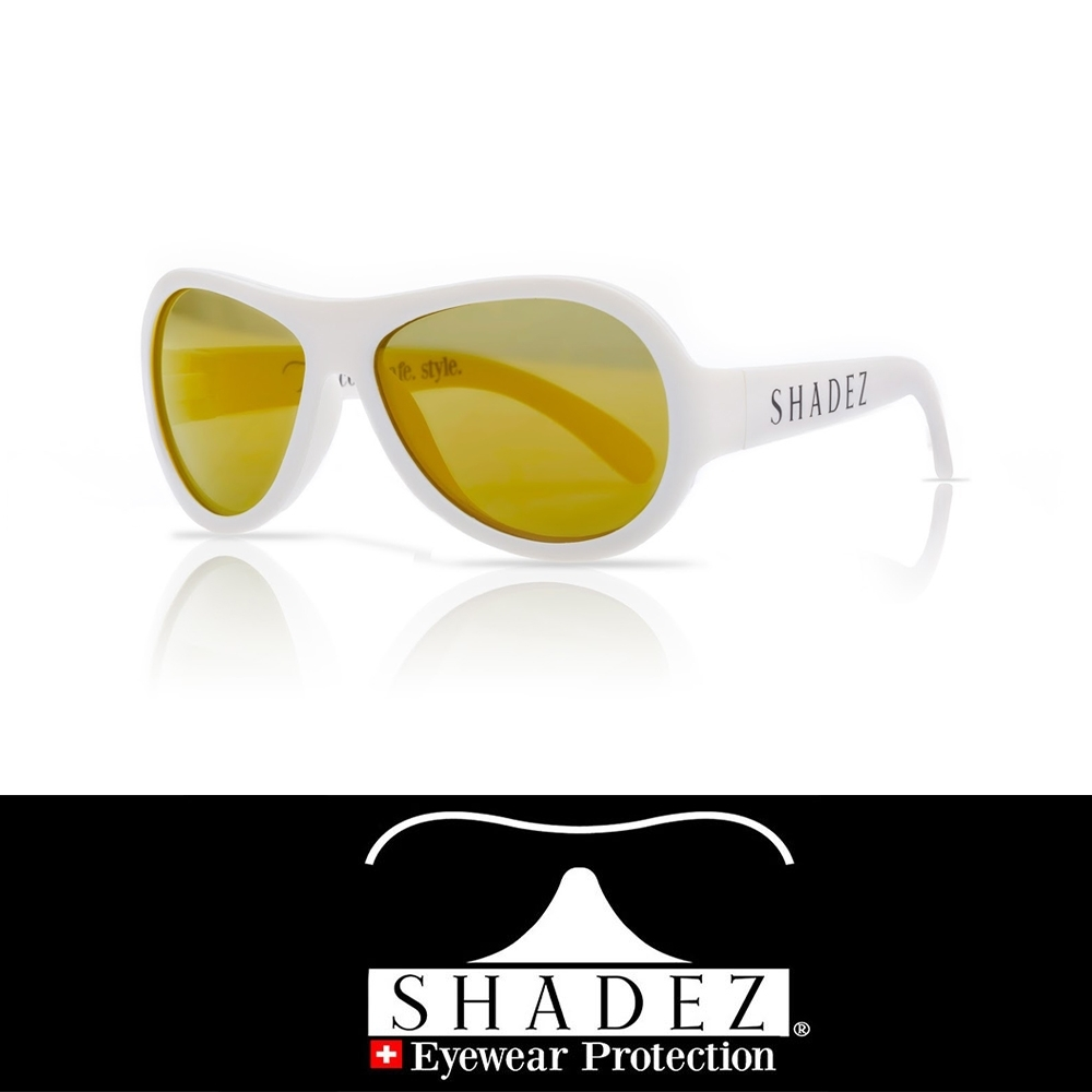 【瑞士SHADEZ】兒童太陽眼鏡 純淨白 0-7歲