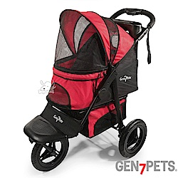 Gen7pets G7 寵物跑步推車 素紅色小方格