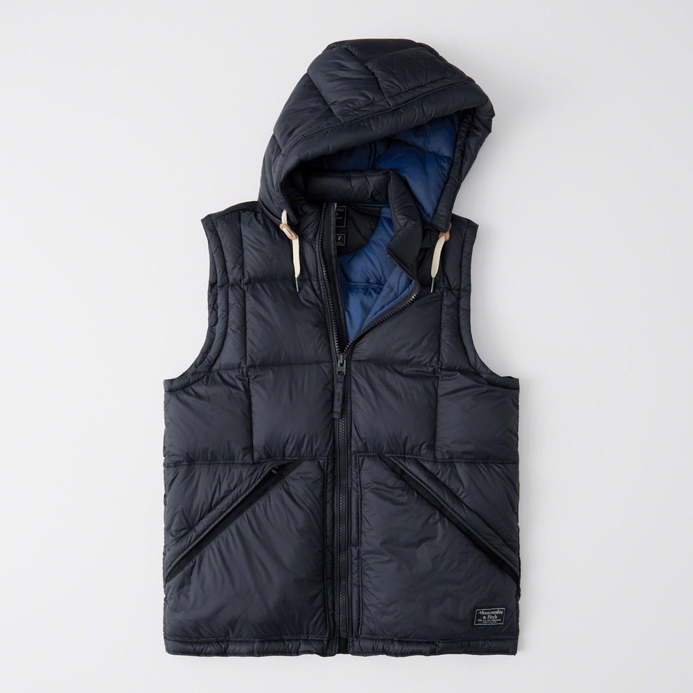 AF a&f Abercrombie & Fitch 背心 藍色 1125