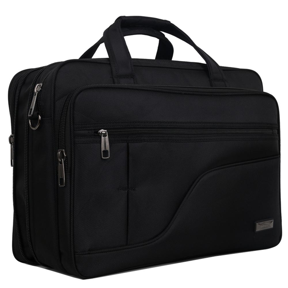 KB8017BK大容量可擴充加厚商務側背包17吋黑色