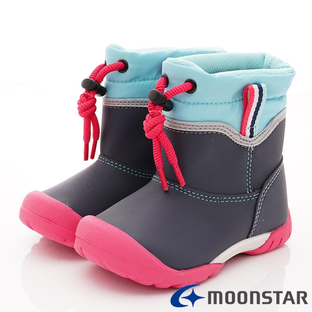 日本月星頂級童鞋  2E防水速乾雨鞋款 TW2105深藍(中小童段)