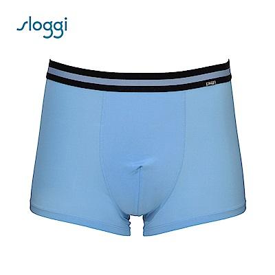 sloggi men Café 咖啡砂系列平口褲 天藍色