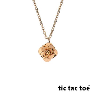 tic tac toe 白鋼女項鍊 花漾 TA-492