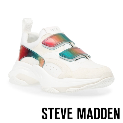 STEVE MADDEN-MARAUDER 拼接魔鬼氈厚底老爹鞋-白色