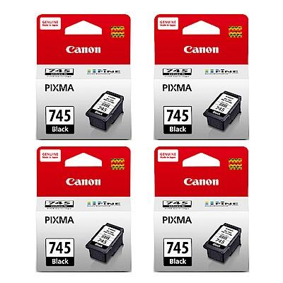 Canon PG-745 原廠黑色墨水匣五入組
