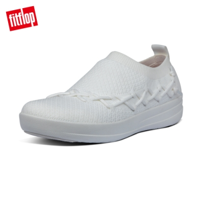 FitFlop CORSETTED SLIP-ON SNEAKERS休閒鞋-女(都會白)