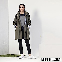 YVONNE COLLECTION 風衣棉連帽外套-綠