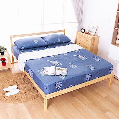 AS-偉特5尺實木雙人床-淺色DIY-156x193x75CM