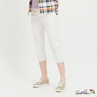 Arnold Palmer-女裝-Color denim 七分合身褲-白