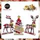 交換禮物-摩達客 木質蘇格蘭格紋風彩繪聖誕擺飾(聖誕樹+麋鹿一對組/三入組合) product thumbnail 1