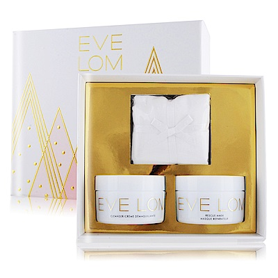 EVE LOM 全能修護組[全能深層潔淨霜100ml+面膜(100ml+卸妝綿布]
