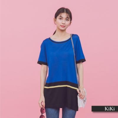 【KiKi】休閒條紋設計-針織衫(三色)