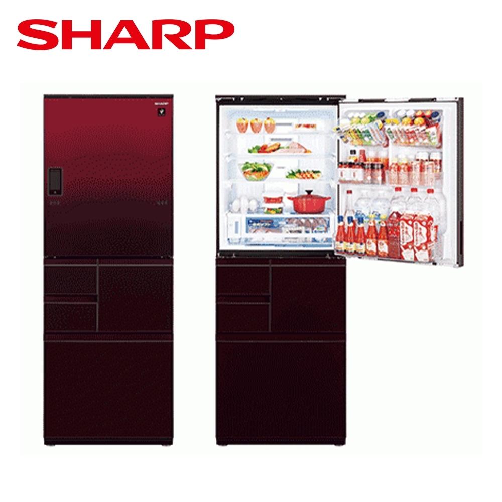 [下單再折] SHARP 夏普 502L 自動除菌離子變頻觸控左右開冰箱 星鑽紅 SJ-WX50ET-R
