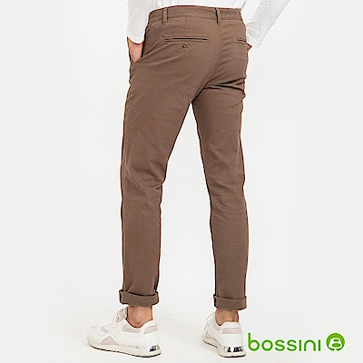 bossini男裝-彈性長褲(內磨毛)04卡其