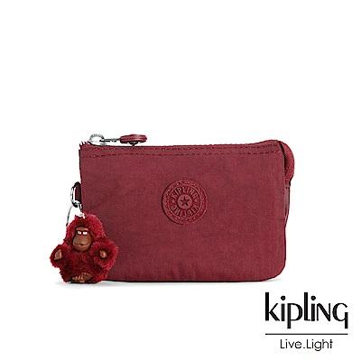 KIPLING高雅酒紅渲染零錢包(小)