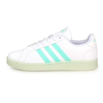 ADIDAS 女 運動休閒鞋 GRAND COURT 白粉綠