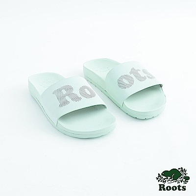 Roots女鞋- 經典皮革輕便鞋-綠