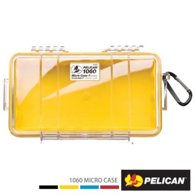 美國 PELICAN 1060 Micro Case 微型防水氣密箱-透明(黃)