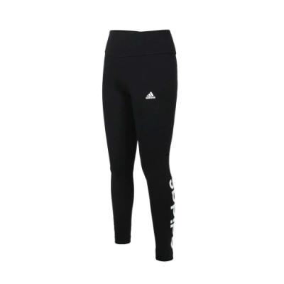 ADIDAS 女緊身長褲-緊身褲 慢跑 路跑 瑜珈 有氧 運動長褲 愛迪達 GL0633 黑白