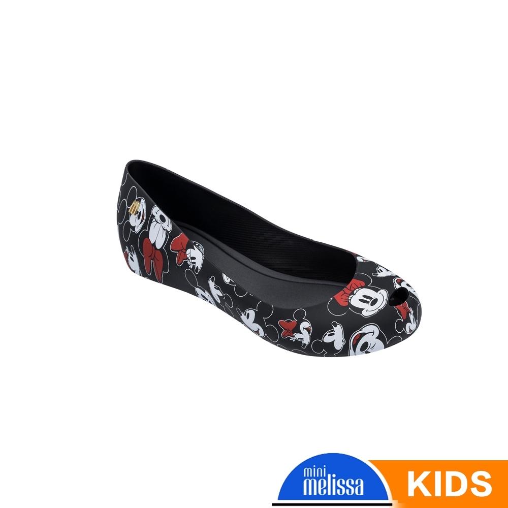 Melissa Mickey國際聯名款 娃娃鞋兒童款 黑色