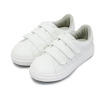 BuyGlasses 魔鬼氈透氣休閒球鞋-白