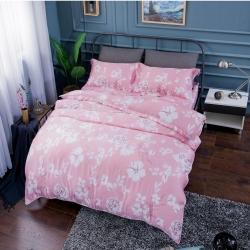 夢工場巴黎戀人40支紗萊賽爾天絲四件式兩用被床包組-加大