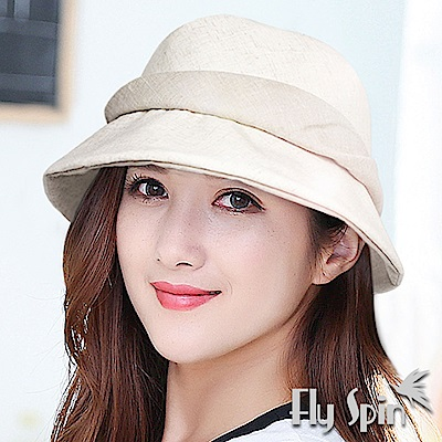 FLYSPIN 高級日系亞麻棉防曬遮陽帽