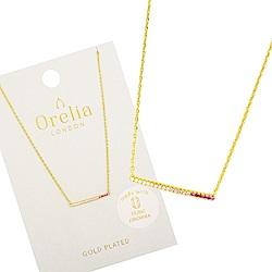 Orelia英國品牌 漸層平衡骨金色項鍊
