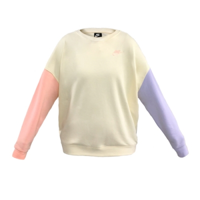 NIKE 上衣 大學T 運動 休閒 女款 黃粉紫 DJ6946156 AS W NSW CREW FLC PASTEL COLOR