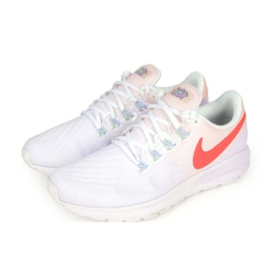 NIKE W AIR ZOOM STRUCTURE 22 女慢跑鞋 淺紫白橘紅(CW2640681)