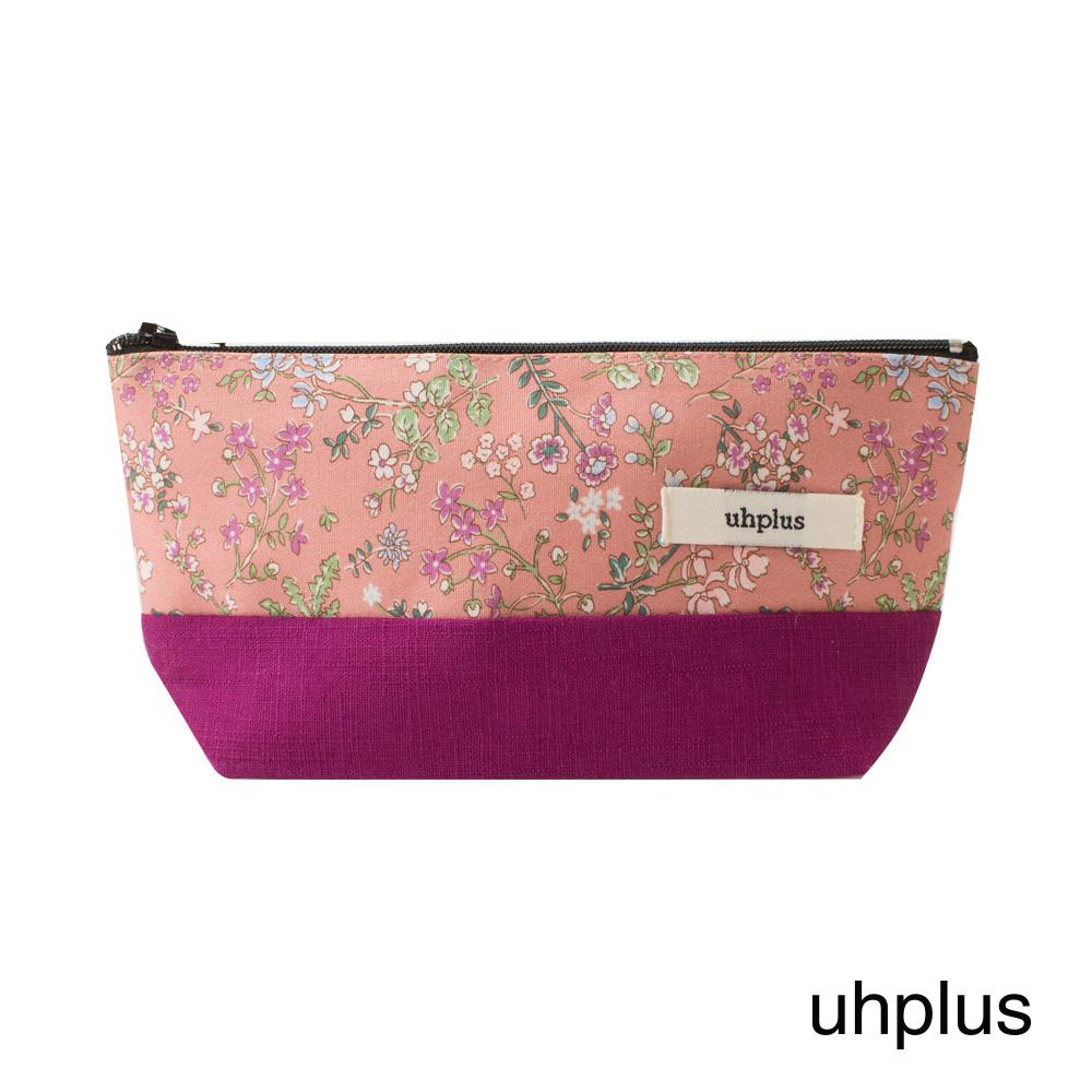 uhplus Q-plus萬用收納包- 花咲(粉)