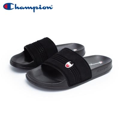【Champion】CLOUD 運動拖鞋 男女款 情侶鞋-黑(UFLS-0033-11)