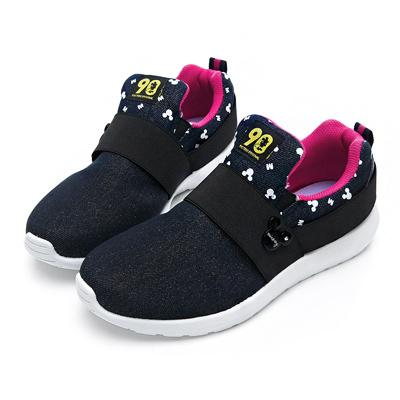 DISNEY 彈性繃帶亮蔥休閒鞋-藍-DW5138FF