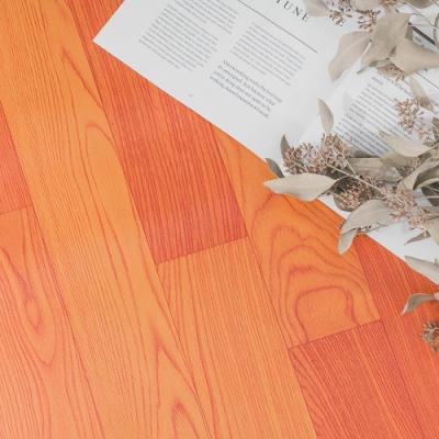 樂嫚妮 0.6坪 仿欒木紋可裁切隔音捲材地板革-100X200cm