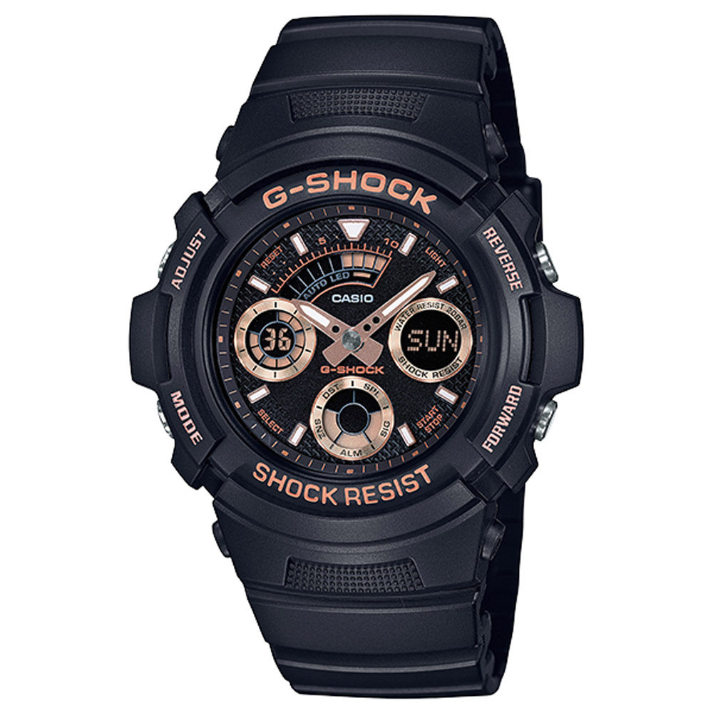 G-SHOCK 極速強悍雙顯錶(AW-591GBX-1A4)-玫瑰金/46.4mm product image 1