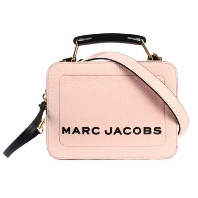 MARC JACOBS 經典THE BOX 20雙拉鍊手提斜背兩用包-小/櫻花粉色
