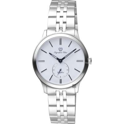 Olympia Star 奧林比亞 小秒針女錶-白x銀/32mm