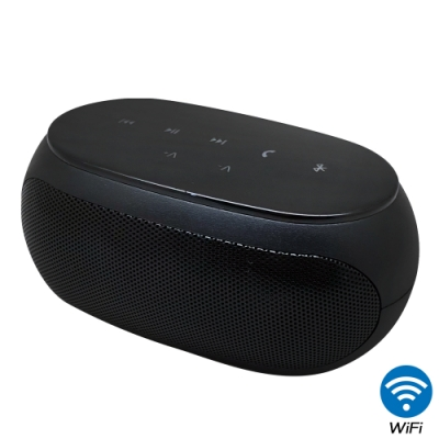 【CHICHIAU】WIFI無線網路高清4K藍芽音響喇叭H4-針孔微型夜視攝影機+影音記錄