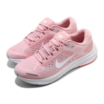 Nike 慢跑鞋 Zoom Structure 23 女鞋 氣墊 輕量 舒適 避震 路跑 健身 粉 白 CZ6721601
