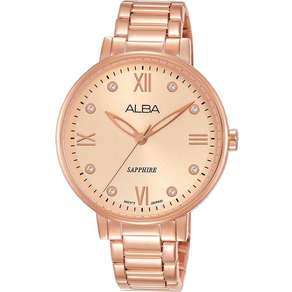 ALBA 浪漫晶鑽時尚女錶(AH7T38X1)36mm/VJ21-X155K