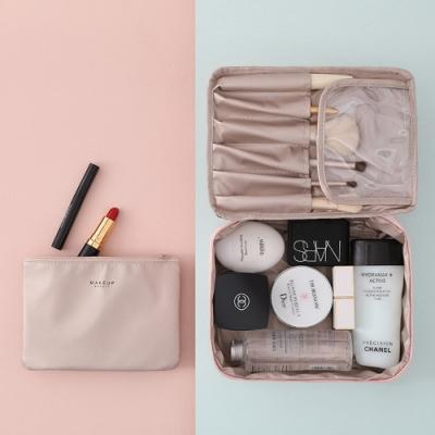E.City_北歐風質感大容量旅行洗漱包化妝包二件組
