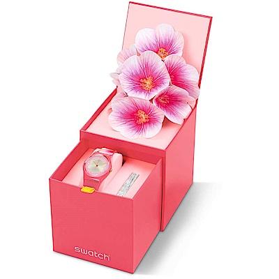Swatch 母親節紀念錶 FIORE DI MAGGIO永恆木槿