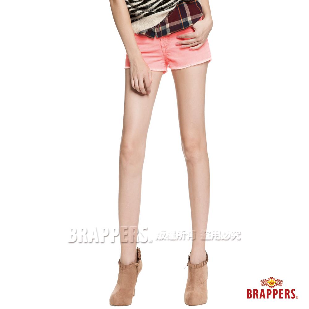 BRAPPERS 女款Boy Friend Jeans系列-彈性條絨熱褲-蜜桃