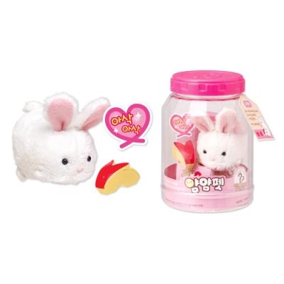mimi world 貪吃寵物精靈-兔兔 小白兔 會發聲 電子寵物