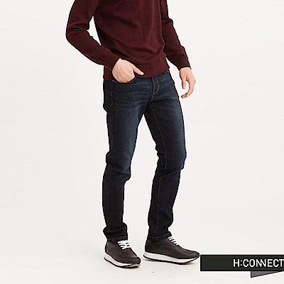H:CONNECT 韓國品牌 男裝 - 刷色修身牛仔褲-藍(快)