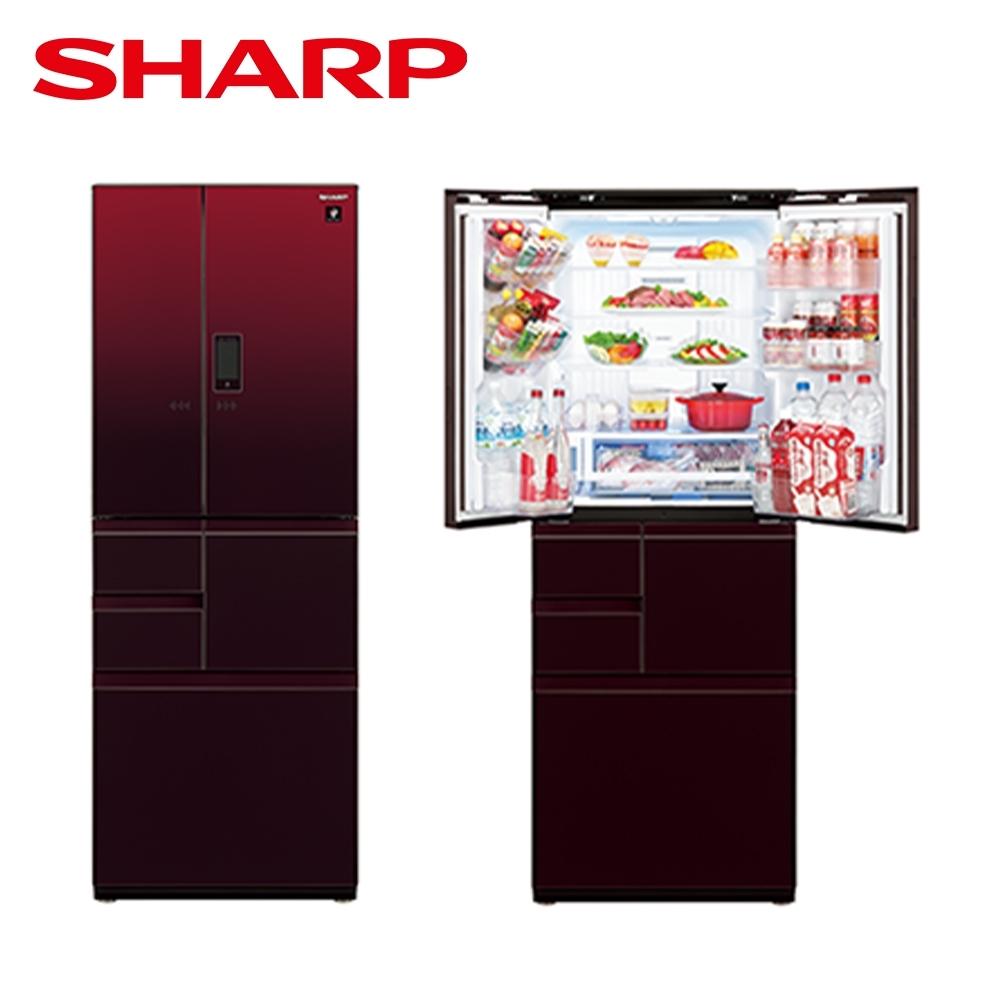 [下單再折] SHARP 夏普 502L 自動除菌離子變頻觸控對開冰箱 星鑽紅 SJ-GX50ET-R